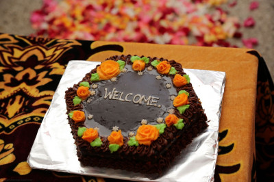 A welcome cake
