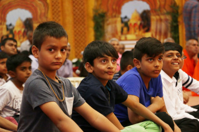 Young devotees present for the question answer session