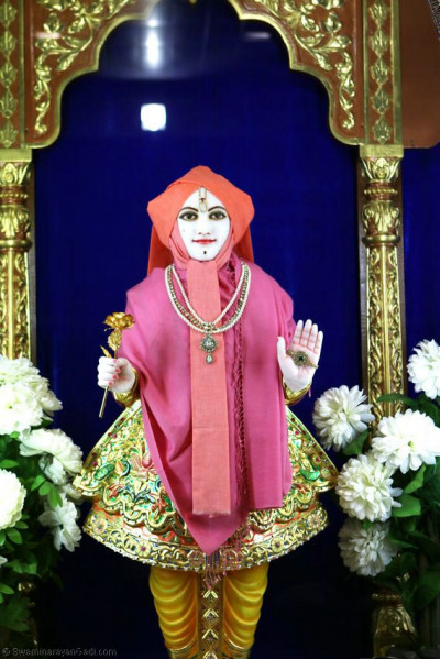 Divine darshan of Lord Shree Swaminarayan during the Shayan Aarti