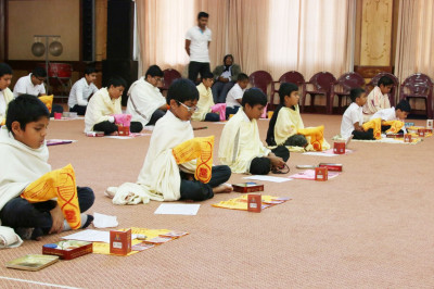 Satsang shibir pooja vidhi in progress