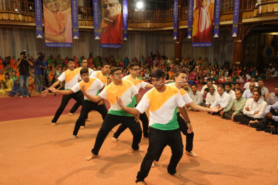 A patriotic dance performed by devotees