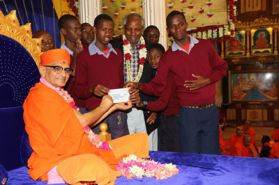A donation to the Kenya Society of the deaf children