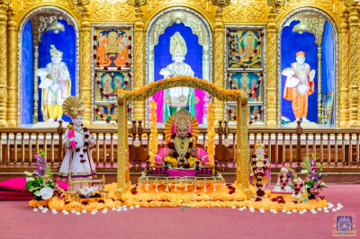 Divine darshan of Shree Swaminarayanbapa Swamibapa