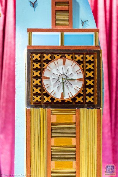 The parliament tower clock miniature made out of bamboo sticks
