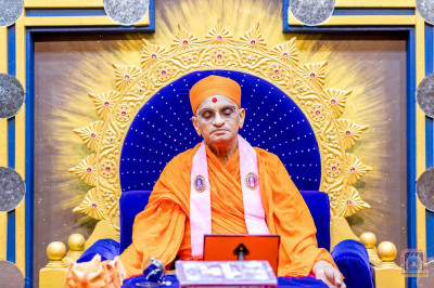 Divine darshan of His Divine Holiness Acharya Swamishree during Dhyan (Meditation)