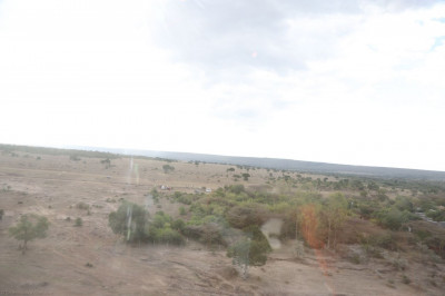 A view of the Maasai Mara National Park from the helicopter