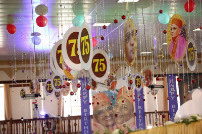 Acharya Swamishree's 75th birthday decorations