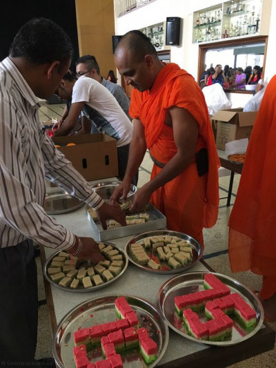 Acharya Swamishree's 75th birthday Saahi Swagat preparations