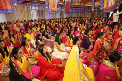 Devotees present for birthday celebrations