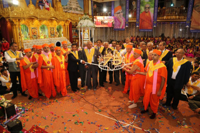 Acharya Swamishree's 75th birthday Maha aarti