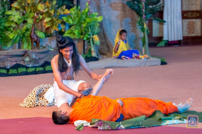 Sevakram section in the play being acted