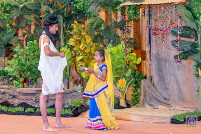 Acting a section of Sevakram story in the play