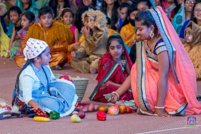 Participants perform in the play