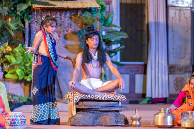 Loj Village section in the play being acted