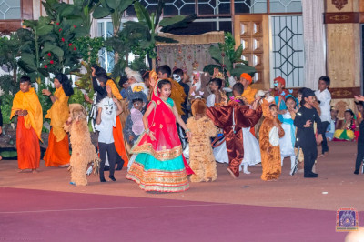 Students of Swamibapa Education Center perform a grand finale dance