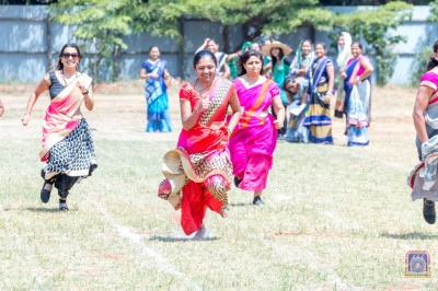Devotees enjoy the various games played