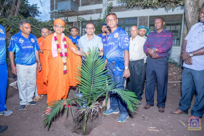 Tree plantation in the presence of H.D.H Acharya Swamishree
