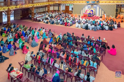 Sant Mandal and devotees present for the event