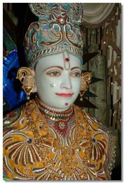The divine darshan of Lord Shree Swaminarayan