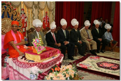 Dignitaries from the State of Delaware attented the satsang sabha