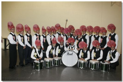 Shree Swamibapa Pipe Band members