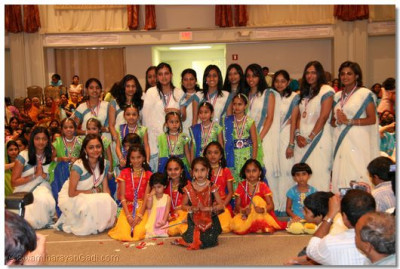 All the young girls who had participated in the devotional dances
