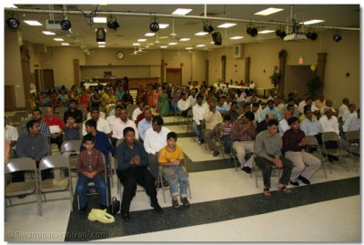The assembly in Florida was held in a local school hall