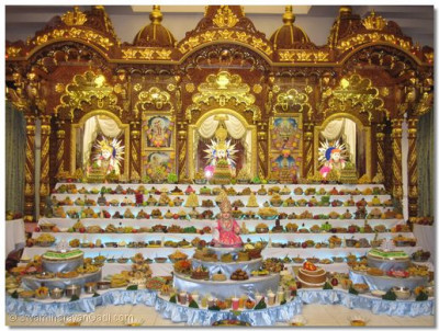 The grand annkut offered to Lord Swaminarayanbapa Swamibapa