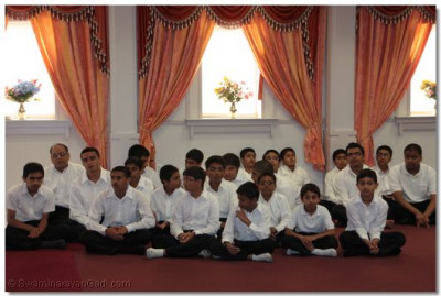 Young disciples seated in the congregation