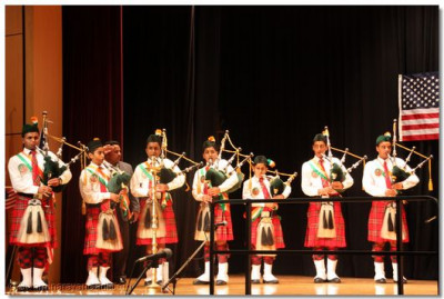 Pipers of all ages, even as young as ten-years-old, gathered to play at this prestigious event
