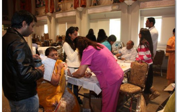 Medical Camp at Shree Swaminarayan Temple New Jersey 2010