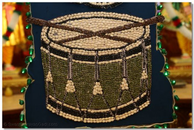 A snare drum made out of beans