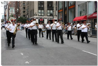 Several local marching bands from New York City also played in the parade to support the millions of Indians living in America celebrating India's independence