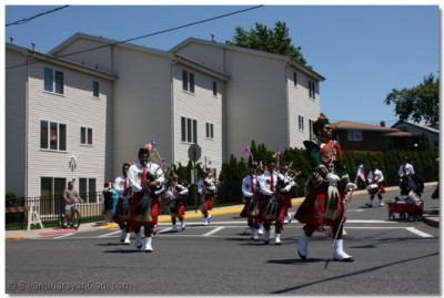 Swamibapa Pipe Band begins the parade that was going down the Secaucus Business District