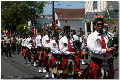 Swamibapa Pipe Band concluding the annual Secaucus Township Memorial Day Parade