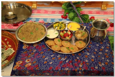Disciples prepared a special thaal for Lord Shree Swaminarayan