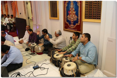 Disciples perform utsav to celebrate the dawning New Year