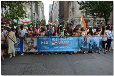 Main banner for the India Day Parade
