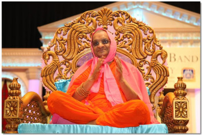 The divine darshan of Acharya Swamishree