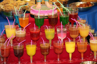 Various drinks in the annakut