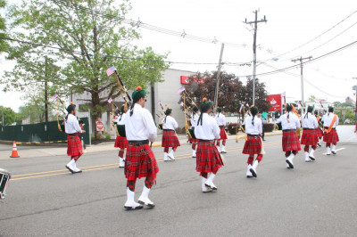 Swamibapa Pipe Band leads the annual Secaucus Memorial Day Parade