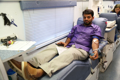 A disciple donates blood