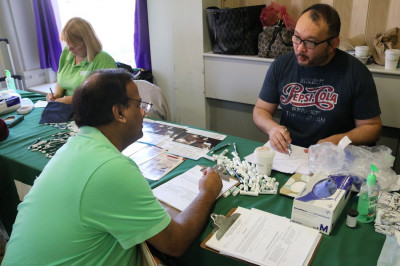 A patient consults with a professional for health care information