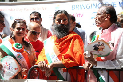 Baba Ramdev was a Chief Guest at the NYC India Day Parade