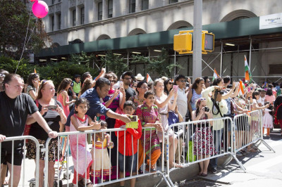 Thousands gather to celebrate India's Independence Day at the New York City Parade