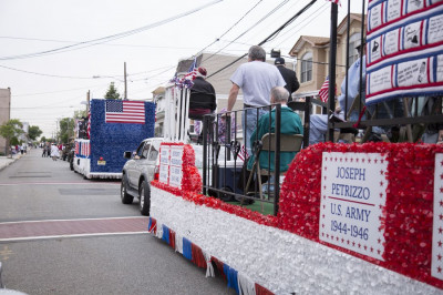 United States Veterans are honored in the parade