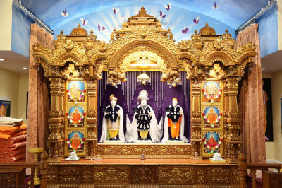 Divine darshan of Lord Swaminarayanbapa Swamibapa at Shree Swaminarayan Temple � Bear, DE