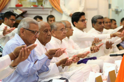 Disciples perform the Maha-Yagna