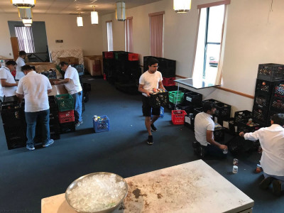 Volunteers from Shree Swaminarayan Temple Ocala, Florida volunteered 42 hours at the Salvation Army USA Florida Center of Hope