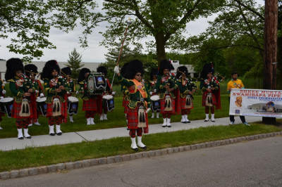 Shree Muktajeevan Swamibapa Pipe Band USA kicks off the annual New Providence walk for life with a diverse repertoire of tunes